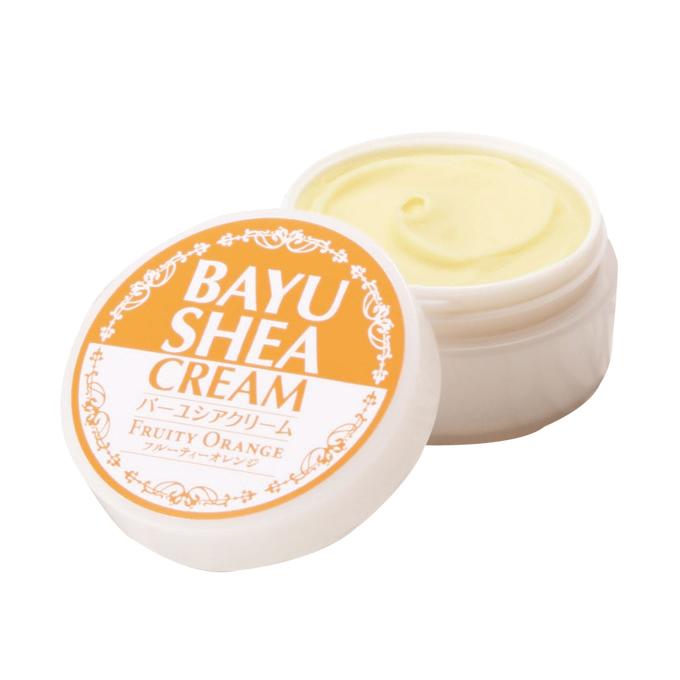 日本創建 バーユシアクリーム  30ml (馬油、ホホバ油、シア脂配合 オレンジの香り)